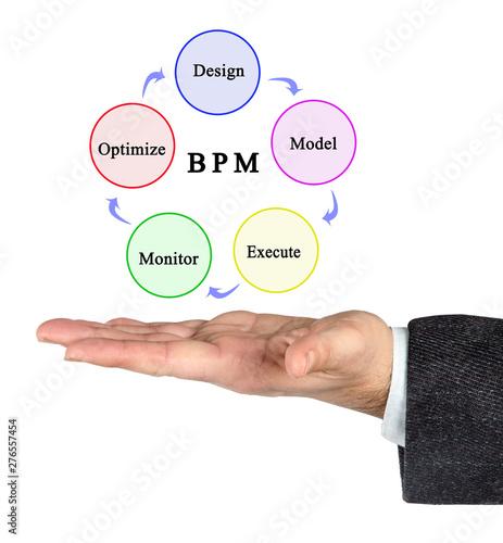 Foto-Vorhang - Components of Business process modeling (von Dmitry)