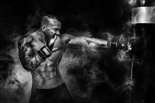 Sportsman Man Boxer Fighting I...