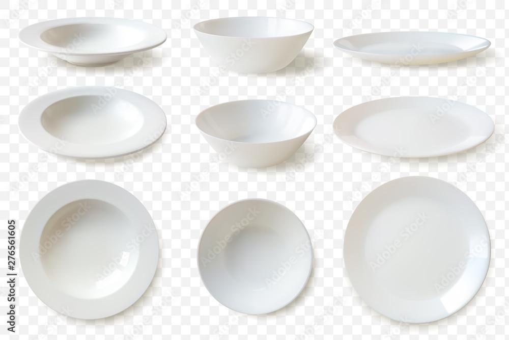 Fotografie, Obraz Realistic plates set