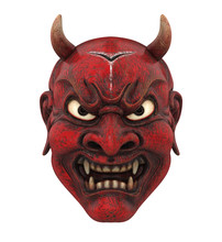 Red Japanese Mask Isolated