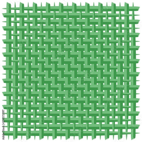 Foto op Plexiglas Draw Weaved Coconut Leaf Green Vector Background
