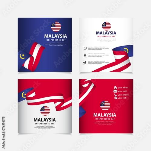 Pinturas sobre lienzo  Malaysia independence day vector template