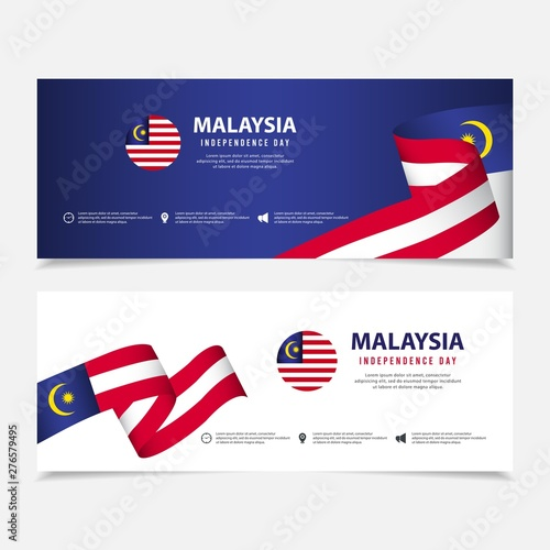 Cuadros en Lienzo  Malaysia independence day vector template