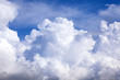 canvas print picture - Puffy clouds blue sky