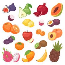 Fruits Fruity Apple Banana And...