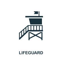 Lifeguard Vector Icon Symbol. ...