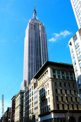 Canvas Print NEW YORK - AUGUST 25, 2018: Photo of Empire State Building in New York City