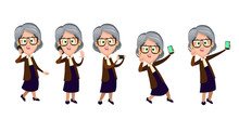 Senior Woman Using Modern Tech...