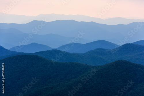 Fotomural View of Smoky Mountains from Blue Ridge Parkway