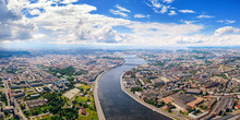 Aerial Panoramic View Of Neva ...