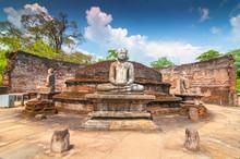Meditating Buddha Statue In Po...