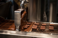 Chocolates Being Made In A Professional Kitchen