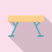 Gymnastic Bar Icon. Flat Illus...