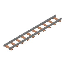 Wood Railway Icon. Isometric Of Wood Railway Vector Icon For Web Design Isolated On White Background