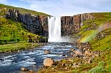 Fototapeta Tęcza - Mulafoss waterfall on Island