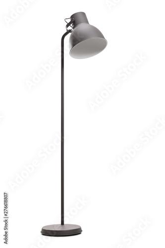 Studio shot of a tall black modern lamp Fototapet