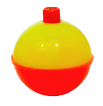 Isolated Day Glo Yellow And Red Fishing Bobber.