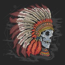 APACHE AMERICAN INDIAN SKULL H...