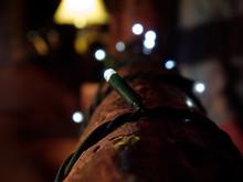 Christmas Lights On Railing