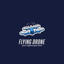 Flying Mini Racing Drone Logo,...