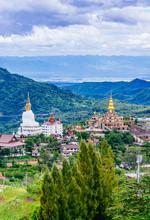 Beautiful Landscape At Wat Phra That Pha Son Kaew Temple In Khao Kho Phetchabun, Thailand.