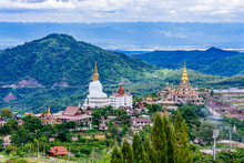 Beautiful Landscape At Wat Phra That Pha Son Kaew Temple In Khao Kho Phetchabun, Thailand.