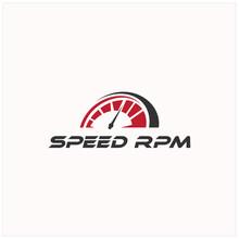 Speed Rpm Speedometer Driver Race Logo Illustration Vector Icon