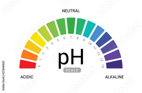 pH scale indicator chart diagram acidic alkaline measure Wallpaper Mural