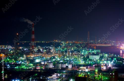 日本のコンビーナート 夜景