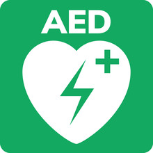 AED Symbol Icon. Heart First A...