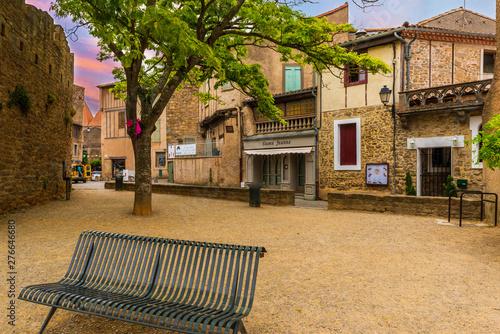 Cité de Carcassonne dans l'Aude en Occitanie, France Canvas Print