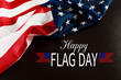 Happy American Flag Day background .