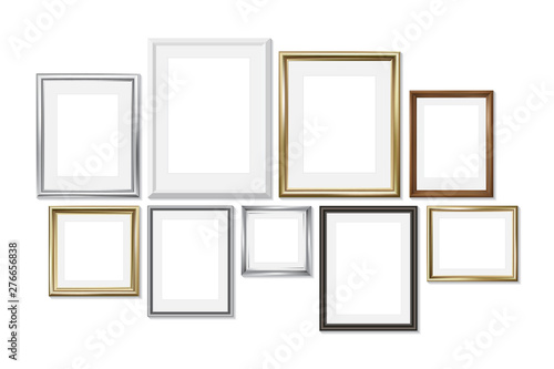 Set of different picture frames isolated on white background Fototapet