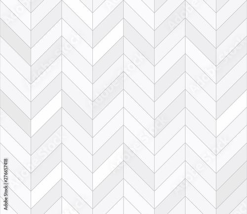 White tiles, seamless pattern, chevron. Vector illustration Canvas Print