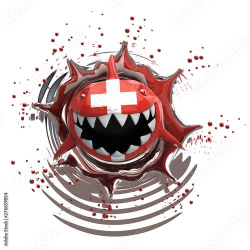 Deurstickers Graffiti collage Shark concept - 3D Illustration