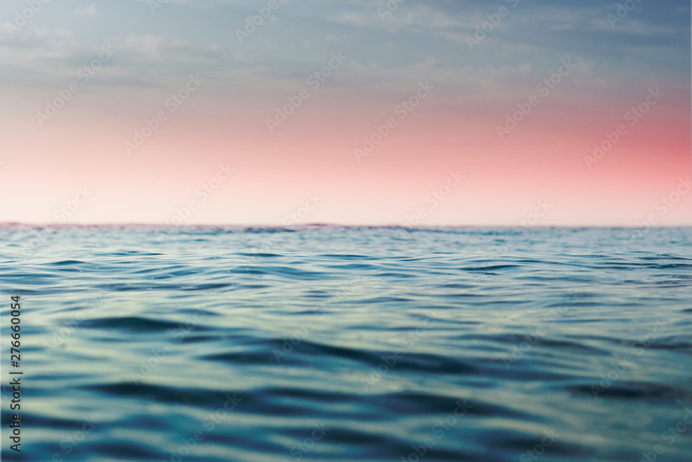 183 & Wall stickers Sea at sunset and at sunrise. Seascape. Narrow ...