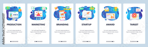 Photo  Website and mobile app onboarding screens vector template