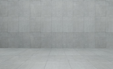Industrial Loft style concrete cement square tiles wall and floor background .