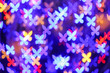 canvas print picture - Blurred lights on dark background
