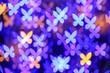 Leinwanddruck Bild - Blurred lights on dark background