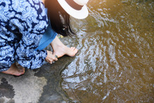 Female Spa Feet Cleaning With ...