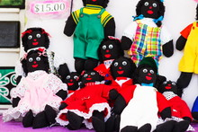Levin, New Zealand - February 10th, 2017: Golliwogs For Sale At The  Annual Medieval Markets Which Attract Thousands Of Locals And Tourists Every Year.