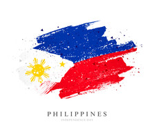 Flag Of The Philippines. Vector Illustration. Independence Day.