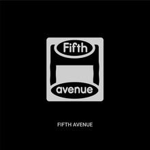 White Fifth Avenue Vector Icon...