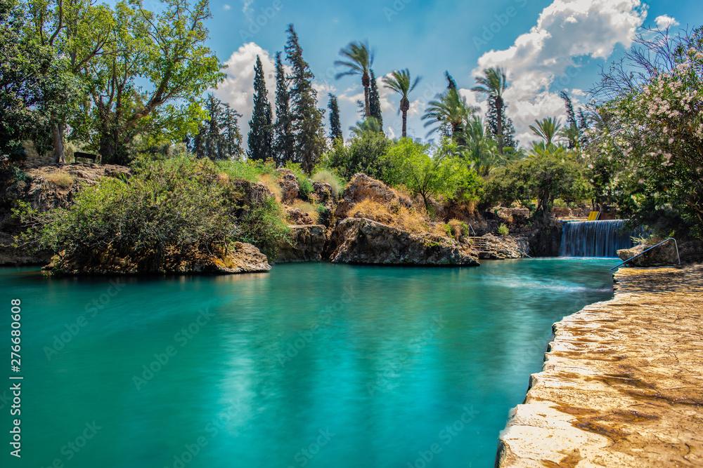 Fototapety, obrazy: Gan Hashlosha national park river background