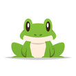 Cartoon frog vector isolated illustration