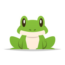 Cartoon Frog Vector Isolated I...