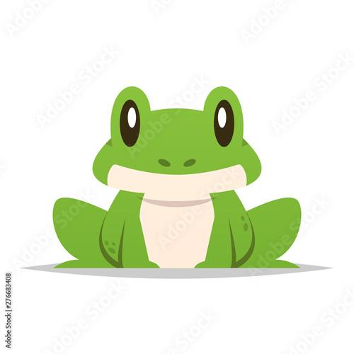 Fotografia, Obraz Cartoon frog vector isolated illustration