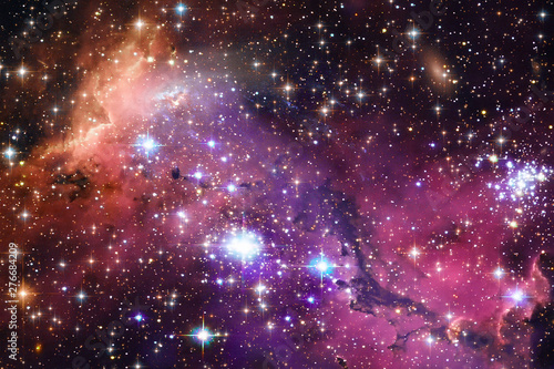 Spoed Foto op Canvas Heelal Space Background with Colorful Galaxy Cloud Nebula. The elements of this image furnished by NASA.