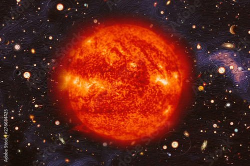 Keuken foto achterwand Nasa Sun in outer space. The elements of this image furnished by NASA.